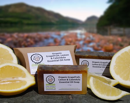 Organic Grapefruit, Lemon & Calendula Essential Oil Soap
