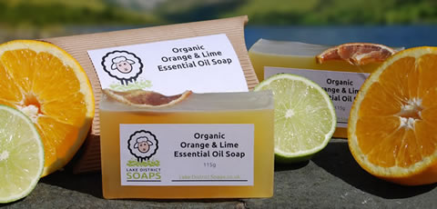 Organic Orange & Lime Essential Oil Soap